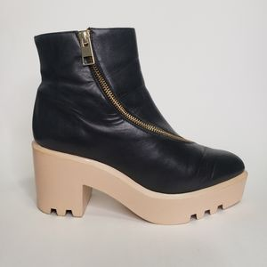 & other stories platform chunky heel booties
